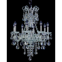Allegri Signature 8 Light Chandelier in Chrome with Swarovski Elements Clear Crystals 10409-010-SE001 photo thumbnail