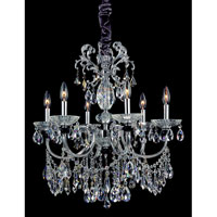 Allegri Steffani 6 Light Chandelier in Chrome with Swarovski Elements Mixed Crystals 10439-010-SE000 photo thumbnail