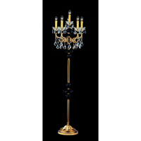 Allegri Faure 6 Light Floor Lamp in Two-tone Gold/24K with Firenze Mixed Crystals 10440-016-FR000