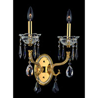 Allegri Faure 2 Light Wall Bracket in Two-tone Gold/24K with Swarovski Elements Clear Crystals 10442-016-SE001