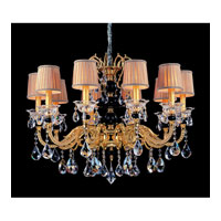 Allegri Faure 10 Light Chandelier in Two-tone Gold/24K with Firenze Mixed Crystals 10449-016-FR000-SA114