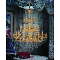 Allegri Legrenzi 66 Light Chandelier in Two-tone Gold/24K with Firenze Clear Crystals 10455-016-FR001