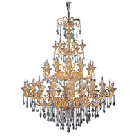 Legrenzi 66 Light 79 inch Two-tone Gold/24K Chandelier Ceiling Light in Firenze Clear