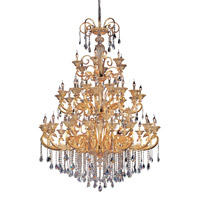 Legrenzi 48 Light 65 inch Antique Silver Leaf Chandelier Ceiling Light in Swarovski Elements Clear