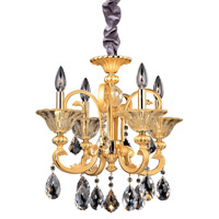 Legrenzi 4 Light 18 inch Two-tone Gold/24K Chandelier Ceiling Light in Firenze Clear