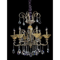 Legrenzi 6 Light 26 inch Antique Silver Leaf Chandelier Ceiling Light in Swarovski Elements Clear