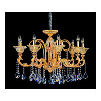 Allegri Legrenzi 9 Light Chandelier in Two-tone Gold/24K with Firenze Clear Crystals 10459-016-FR001