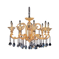Legrenzi 9 Light 34 inch Two-tone Gold/24K Chandelier Ceiling Light in Firenze Clear