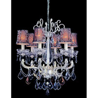 Allegri Campra 6 Light Chandelier in Two-tone Silver with Swarovski Elements Mixed Crystals 10465-017-SE000-SA100 photo thumbnail