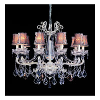 Allegri Campra 10 Light Chandelier in Two-tone Silver with Swarovski Elements Mixed Crystals 10468-017-SE000-SA100
