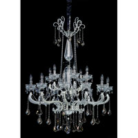Allegri Campra 18 Light Chandelier in Two-tone Silver with Swarovski Elements Mixed Crystals 10469-017-SE000