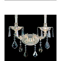 Allegri Marcello 2 Light Wall Bracket in Antique Silver with Swarovski Elements Mixed Crystals 10472-005-SE000