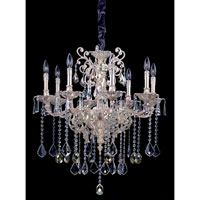 Allegri Marcello 8 Light Chandelier in Antique Silver with Swarovski Elements Mixed Crystals 10479-005-SE000 photo thumbnail