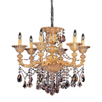 Mendelsshon 6 Light 29 inch Two-tone Gold/24K Chandelier Ceiling Light