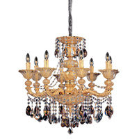 Mendelsshon 8 Light 31 inch Two-tone Gold/24K Chandelier Ceiling Light