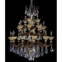 Allegri Mendelssohn 24 Light Chandelier in Antique Gold Leaf with Firenze Clear Crystals 10499-004-FR001