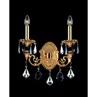 Allegri Bellini 2 Light Wall Bracket in Two-tone Gold/24K with Firenze Mixed Crystals 10532-016-FR000