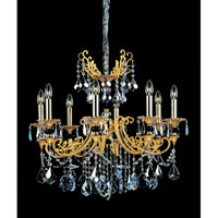 Bellini 8 Light 30 inch Two-tone Gold/24K Chandelier Ceiling Light