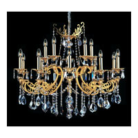 Bellini 15 Light 38 inch Two-tone Gold/24K Chandelier Ceiling Light