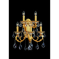 Allegri Rafael 5 Light Wall Bracket in Two-tone Gold/24K with Swarovski Elements Clear Crystals 10590-016-SE001