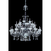 Allegri Rafael 22 Light Chandelier in Antique Silver with Firenze Clear Crystals 10596-005-FR001