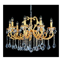 Allegri Rafael 9 Light Chandelier in Two-tone Gold/24K with Swarovski Elements Clear Crystals 10597-016-SE001