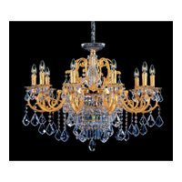 Allegri Rafael 13 Light Chandelier in Two-tone Gold/24K with Swarovski Elements Clear Crystals 10598-016-SE001
