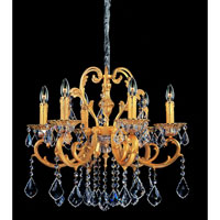Allegri Rafael 6 Light Chandelier in Two-tone Gold/24K with Swarovski Elements Clear Crystals 10599-016-SE001