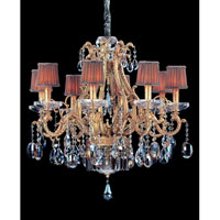 Allegri Rossi 10 Light Chandelier in Brass Patina with Firenze Mixed Crystals 10617-008-FR000-SA118