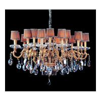 Allegri Rossi 20 Light Chandelier in Brass Patina with Firenze Mixed Crystals 10618-008-FR000-SA118