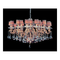 Allegri Rossi 26 Light Chandelier in Brass Patina with Firenze Mixed Crystals 10619-008-FR000-SA118