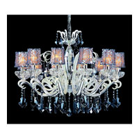 Allegri Britten 12 Light Chandelier in Two-tone Silver with Firenze Smoke Fleet Argentine Crystals 10628-017-FR006-SA101