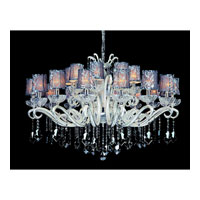 Allegri Britten 24 Light Chandelier in Two-tone Silver with Firenze Smoke Fleet Argentine Crystals 10629-017-FR006-SA101