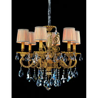 Allegri Auber 6 Light Chandelier in Aged Bronze with Firenze Mixed Crystals 10636-001-FR000-SA115
