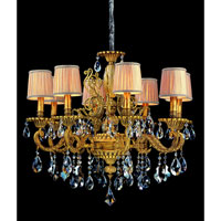 Allegri Auber 8 Light Chandelier in Aged Bronze with Firenze Mixed Crystals 10637-001-FR000-SA115