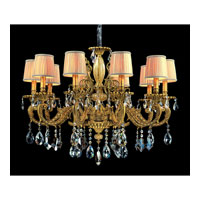 Allegri Auber 10 Light Chandelier in Aged Bronze with Firenze Mixed Crystals 10638-001-FR000-SA115