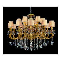 Allegri Auber 18 Light Chandelier in Aged Bronze with Firenze Mixed Crystals 10639-001-FR000-SA115 photo thumbnail