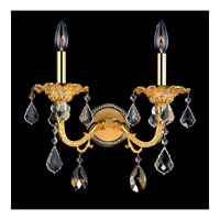 Allegri Vivaldi 2 Light Wall Bracket in Two-tone Gold/24K with Swarovski Elements Mixed Crystals 10682-016-SE000