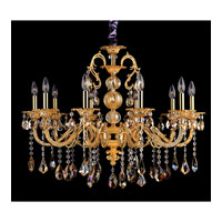 Allegri Vivaldi 10 Light Chandelier in Two-tone Gold/24K with Swarovski Elements Mixed Crystals 10685-016-SE000