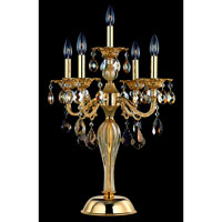 Allegri Vivaldi 5 Light Table Lamp in Two-tone Gold/24K with Swarovski Elements Mixed Crystals 10687-016-SE000