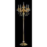 Allegri Vivaldi 6 Light Floor Lamp in Two-tone Gold/24K with Swarovski Elements Mixed Crystals 10688-016-SE000