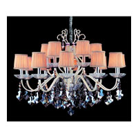 Allegri Puccini 15 Light Chandelier in Two-tone Silver with Firenze Fleet Gold Crystals 10749-017-FR005-SA118