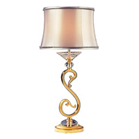 Portables 24 inch 40 watt Two-tone Gold/24K Table Lamp Portable Light