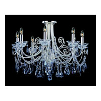 Allegri Brunetti 8 Light Semi-Flush in Two-tone Silver with Firenze Mixed Crystals 10888-017-FR000