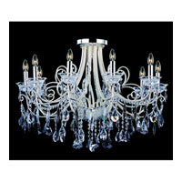 Allegri Brunetti 10 Light Semi-Flush in Two-tone Silver with Firenze Mixed Crystals 10889-017-FR000