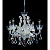 Allegri Argento 6 Light Chandelier in Sterling with Firenze Mixed Crystals 10937-015-FR000