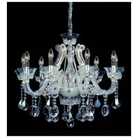 Allegri Argento 8 Light Chandelier in Sterling with Firenze Mixed Crystals 10938-015-FR000 photo thumbnail