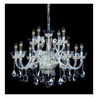 Allegri Argento 12 Light Chandelier in Sterling with Firenze Mixed Crystals 10939-015-FR000 photo thumbnail