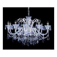 Allegri Pachelbel 10 Light Chandelier in Two-tone Silver with Firenze Mixed Crystals 10968-017-FR000
