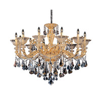 Mendelsshon 12 Light 47 inch Two-tone Gold/24K Chandelier Ceiling Light